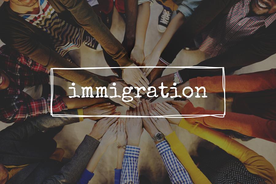 Immigration Immigrants Migrate Move Aboard Concept